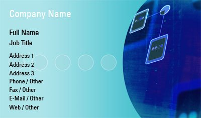 Blue Circuit Business Card Template